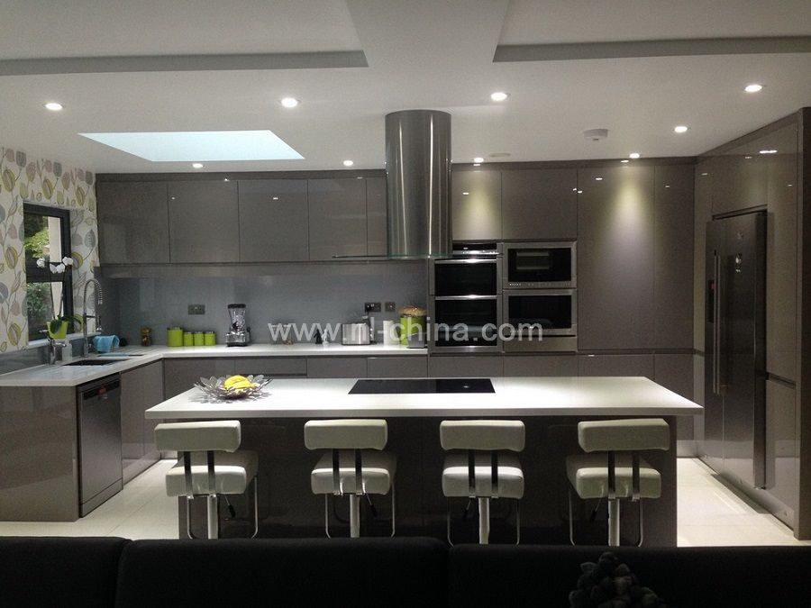 Contemporary Kitchen Lacquered High Gloss Airone Torchetti: High Gloss Lacquer Kitchen Cabinet Designs Professional