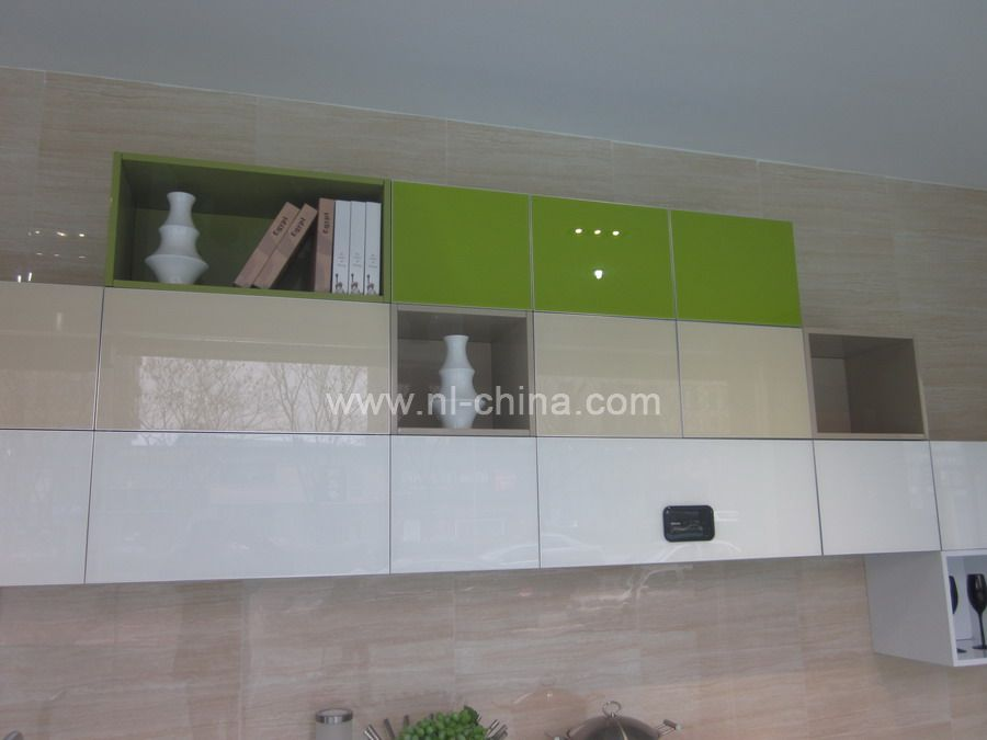 Unique design painting flat pack kitchen cabinets with for Light green kitchen paint