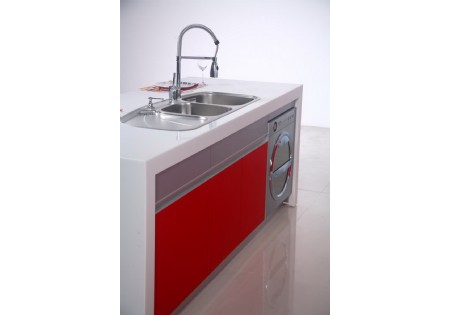Hot selling contemporary bright red lacquer kitchen for Bright red kitchen cabinets