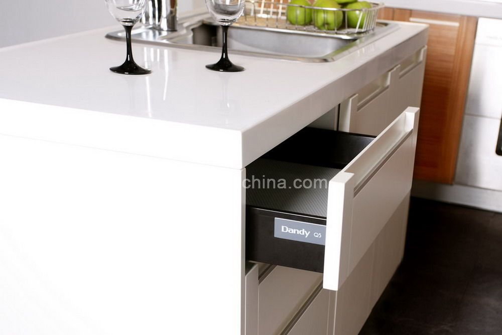 Baroque kitchen cabinet with drawer sliding roller mepla for Sliding drawers for kitchen cabinets
