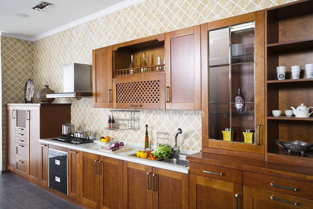 european standard factory direct sell cherry wood kitchen