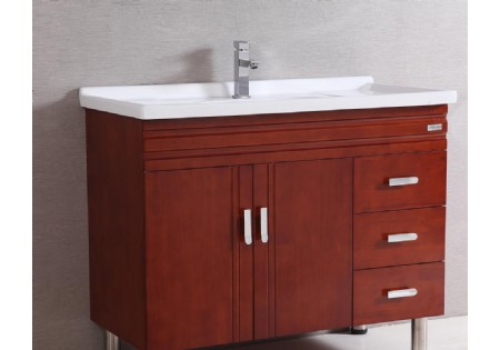 Free Standing One Piece Vanity Top Curved Antique Bathroom Vanity For Sale B 8670