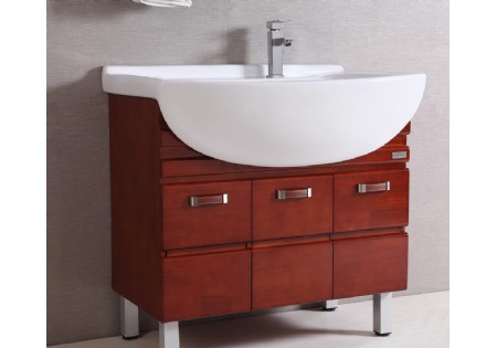 wood luxury antique red oak bathroom vanity with metal legs b 8680 rh nl china com Bathroom Vanities with Legs Bathroom with Metal Sink Console