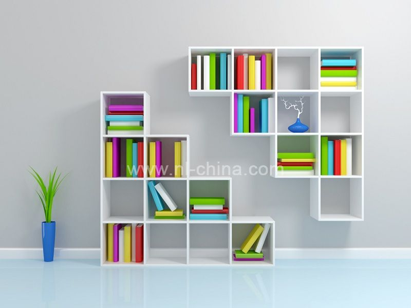 Wood Wall Corner Designs Living Room Cabinets Childrens Bookcase KB 7020