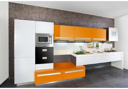 China Hangzhou High Gloss lacquer Modular Kitchen Cabinets ...
