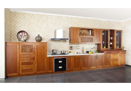 wood house prefabricated furniture solid wood kitchen set furniture kc 4020 - Kitchen Set Furniture