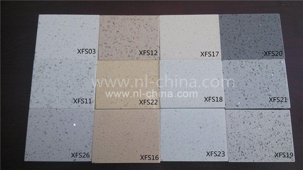 N L Good Quality Artificial Quartz Stone 40mm Thickness Kitchen