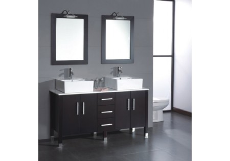 American Popular Floor Mounted Double Basin Cabinet