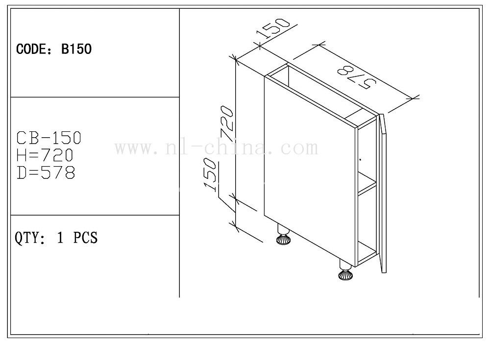 Low Pprice High Quality Modern Style American Standard Size Kitchen Cabinet