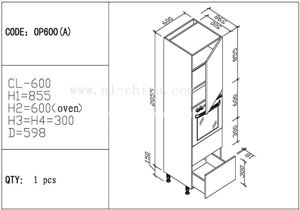 American Standard Size Customized Cabinet Kitchen Pantry