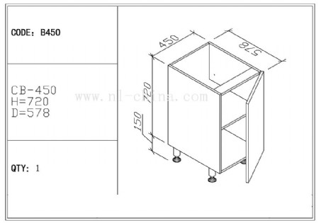 ... Affordable Commercial Furniture Customized Standard Size Wood Kitchen  Cabinet ...