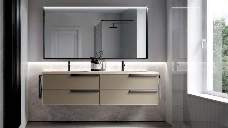 Hanging Hotel Bathroom Vanity L Shaped