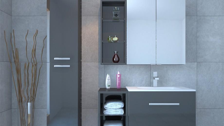 Small Cheap Solid Wood Oak Hotel Used Bathroom Vanity Cabinets B 8600 N lfurniture