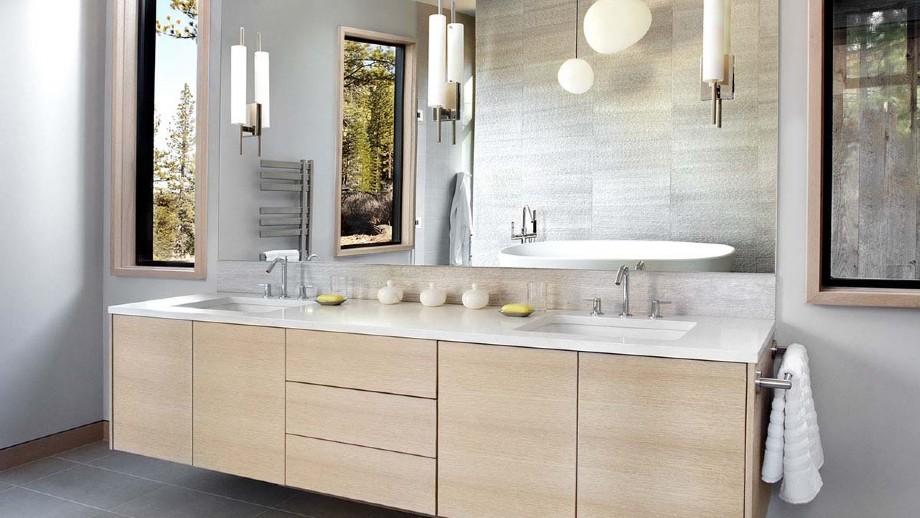Modular Waterproof Lowes Bathroom Vanity Cabinets Made In China B