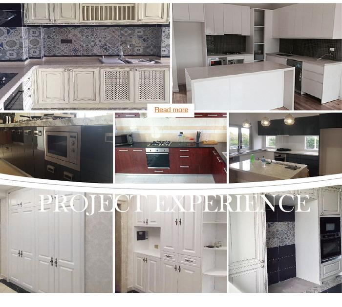White Mdf Board High End Pvc Kitchen Set Kc 3060